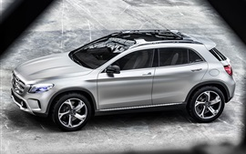 Mercedes-Benz GLA концепция Серебряный автомобиль вид сверху