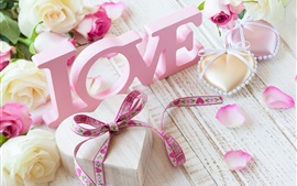 Preview wallpaper Pink love, flowers, roses, Valentine's Day
