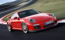 Preview wallpaper Porsche 911 GT3 997 red supercar