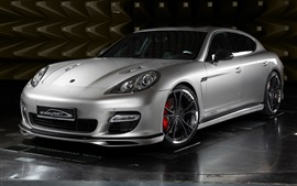 Preview wallpaper Porsche silver car front view