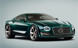 Preview wallpaper 2015 Bentley EXP green supercar