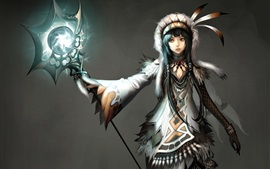 Atlantica Online, pc game, girl, magician