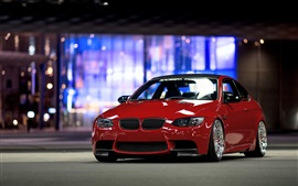 Preview wallpaper BMW E92 M3 red car front view