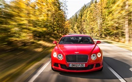 Preview wallpaper Bentley Continental GT red supercar