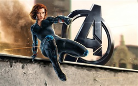 Preview wallpaper Black Widow, Avengers: Age of Ultron, Scarlett Johansson