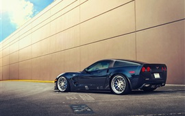 Preview wallpaper Chevrolet Corvette ZR1 blue car