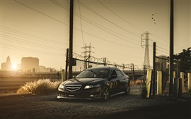 Preview wallpaper Honda Accord Acura black car