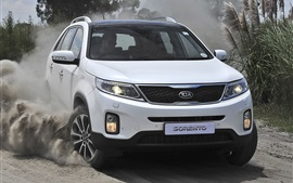 KIA Sorento SUV car, dust