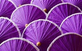 Preview wallpaper Many purple umbrella