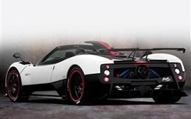 Aperçu fond d'écran Pagani Zonda Roadster supercar blanc Vue de dos