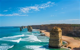 Aperçu fond d'écran Mer, océan, côte, falaise, pierre
