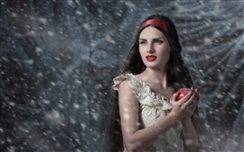 Preview wallpaper Snow White, apple, girl
