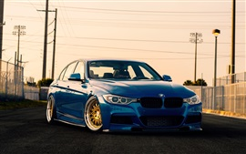 Preview wallpaper BMW 3 Series F30 sedan, blue car