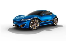Preview wallpaper Blue concept supercar