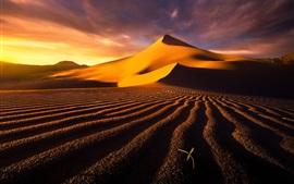 Пустыня, дюны, небо, облака, горячий