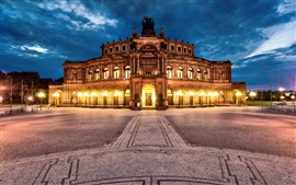 Preview wallpaper Dresden, Germany, city, night, Semper Opera, lights