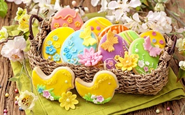 Aperçu fond d'écran Pâques, biscuits, pâtisseries, de la nourriture