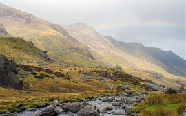 Preview wallpaper Great Britain, Wales, Snowdonia, National Park, mountains
