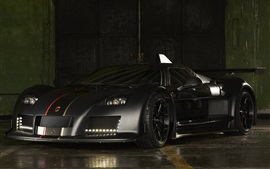 Preview wallpaper Gumpert Apollo black supercar, evening
