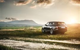 Preview wallpaper Land Rover Range Rover IV, SUV car, sunset