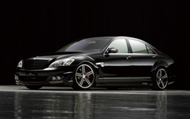 Preview wallpaper Mercedes-Benz black bison car side view
