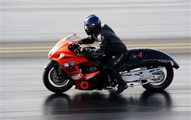 Motorcycle, high speed, drag racing