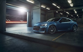Preview wallpaper Subaru BRZ blue car