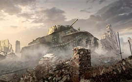 Preview wallpaper World of Tanks, PC game HD