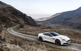Preview wallpaper 2014 Aston Martin Vanquish, carbon white, supercar