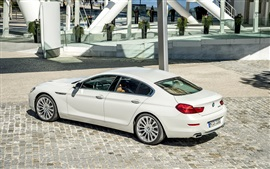 Preview wallpaper 2015 BMW 650i coupe, white car