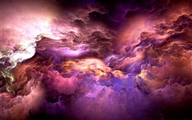 Preview wallpaper Abstract colors, unreal, clouds