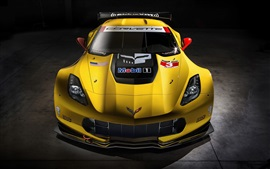 Preview wallpaper Chevrolet Corvette C7-R race car front view
