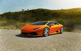 Preview wallpaper Lamborghini Huracan LP640-4 Diamond Edition, orange supercar