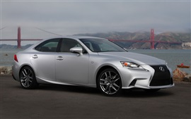 Preview wallpaper Lexus IS 50 silver car side view
