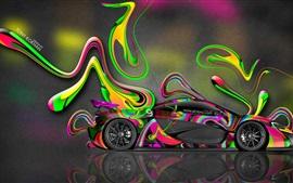 Aperçu fond d'écran McLaren P1 vue de côté de supercar, la conception de l'art