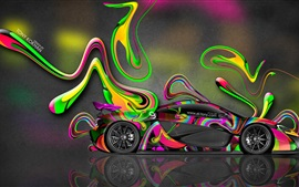 McLaren P1 vista lateral superdeportivo, diseño de arte