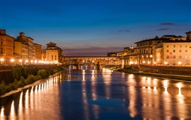 Preview wallpaper Night, Venice, beautiful Italy, river, houses, lights