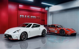 Preview wallpaper Nissan 370Z white, red supercars