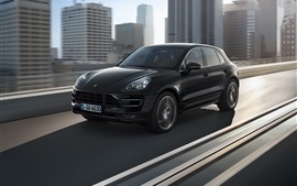 Preview wallpaper Porsche Macan 2014 black SUV car