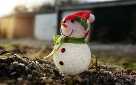 Snowman, macro photography, toy