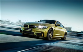 Preview wallpaper 2015 BMW M4 F82 green car