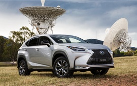 Preview wallpaper 2015 Lexus NX 200t silver car