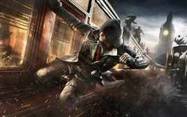 Preview wallpaper Assassin's Creed: Syndicate, action, train
