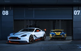 Preview wallpaper Aston Martin 2015 Vantage GT3 two cars