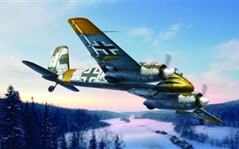 Preview wallpaper German aircraft, war, art painting