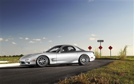 Preview wallpaper Mazda RX-7 silver car