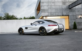 Preview wallpaper Mercedes-Benz AMG GT car rear view