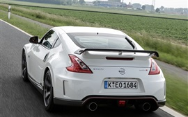 Preview wallpaper Nissan 370Z white car rear view