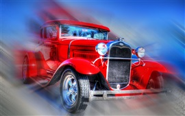 Preview wallpaper Retro Ford car, lights, wheels, bumper