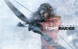 Rise of the Tomb Raider, Lara Croft utiliser arc